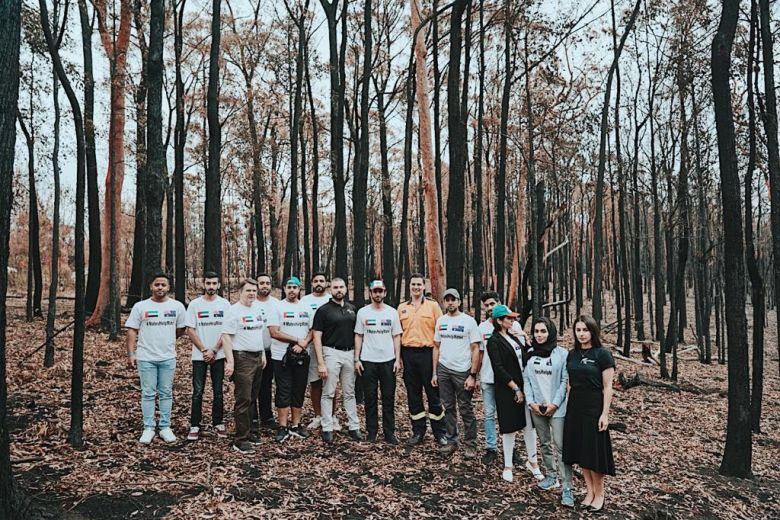 Emirati volunteers responding with mateship to Australians in need