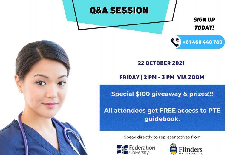 FREE Q&A session   Study Nursing in Australia