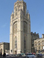 University of Bristol tower after cleaning