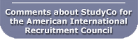 Comments about StudyCo for the American International Recruitment Council