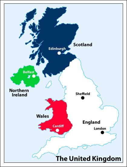 خريطة المملكة المتحدة