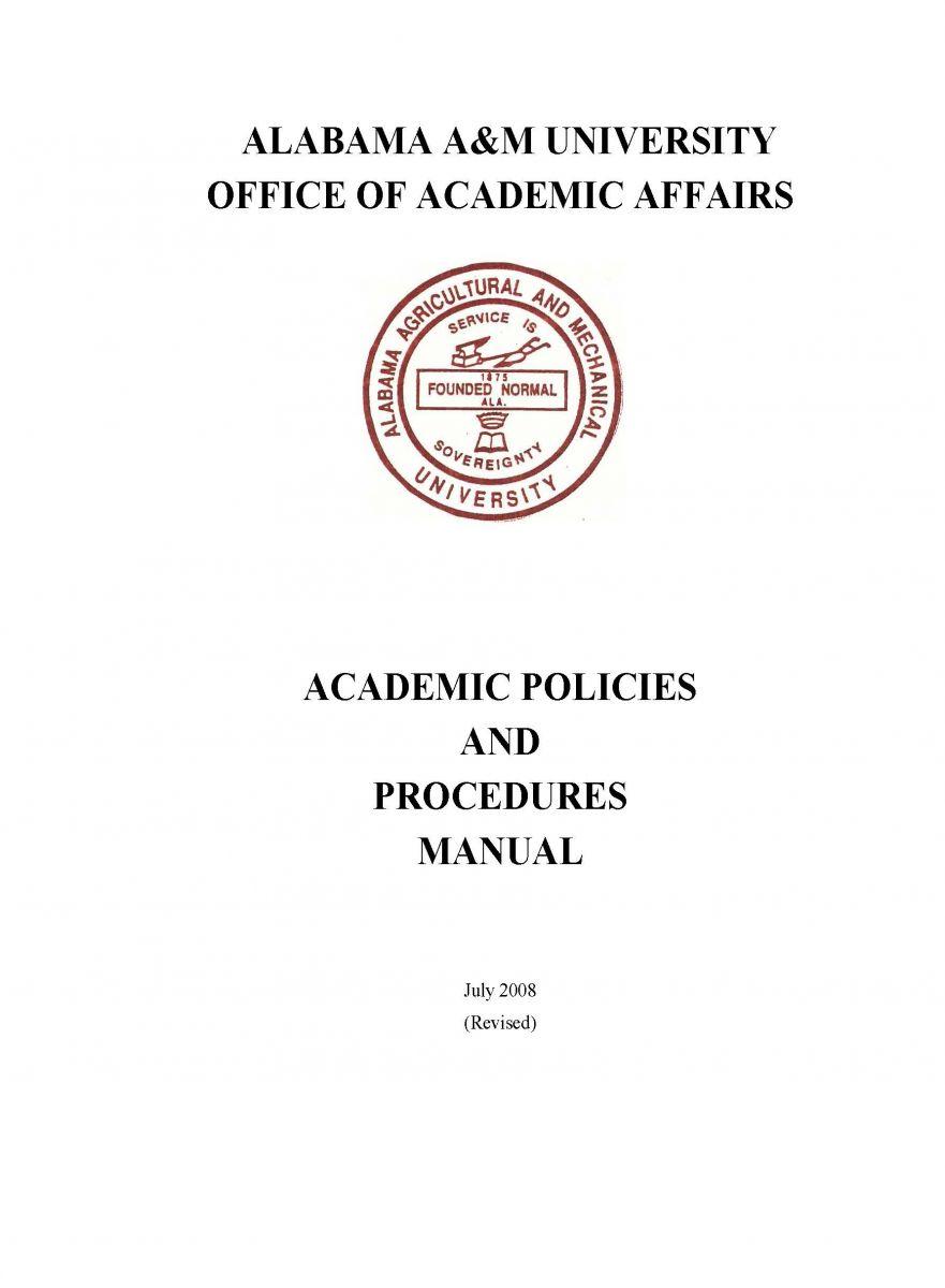 university policies and procedures manual
