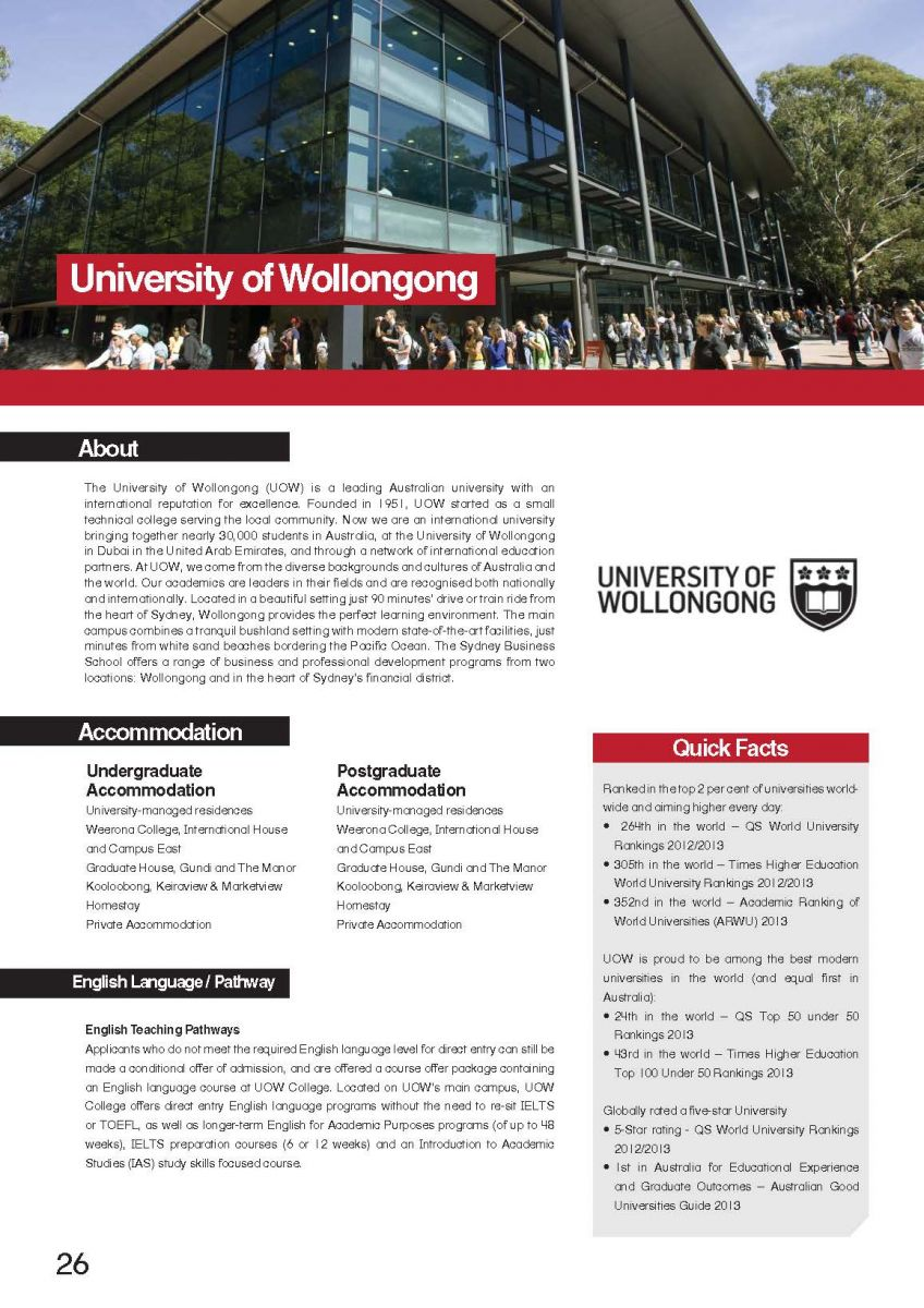 2018 course handbook uow